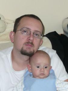 Ing. Martin Štefaňák, Ph.D. se synem