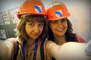 Sofie a já nosíme helmy