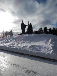 Památník u Řeky Tom.